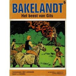 Bakelandt - 006 Het beest van Gits - eerste druk 1979