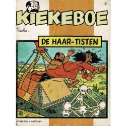Kiekeboe - 008 De Haar-Tisten - herdruk - Uitgeverij Hoste, ongekleurd