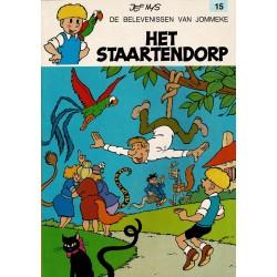 Jommeke - 015 Het staartendorp - herdruk - oranje cover