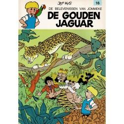 Jommeke - 016 De gouden jaguar - herdruk - oranje cover