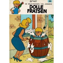 Jommeke - 023 Dolle fratsen - herdruk - oranje cover