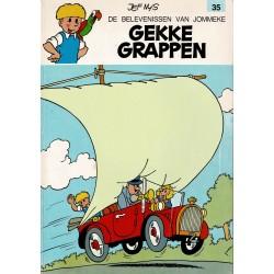 Jommeke - 035 Gekke grappen - herdruk - oranje cover