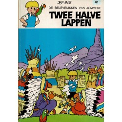 Jommeke - 041 Twee halve lappen - herdruk - oranje cover