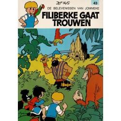 Jommeke - 043 Filiberke gaat trouwen - herdruk - oranje cover