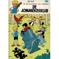 Jommeke - 044 De Jommekesklub - herdruk - oranje cover