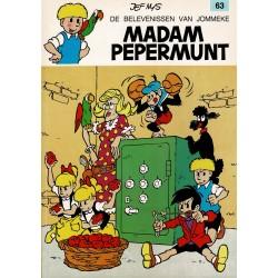 Jommeke - 063 Madam Pepermunt - herdruk - oranje cover