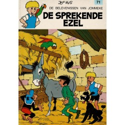 Jommeke - 071 De sprekende ezel - herdruk - oranje cover