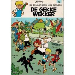 Jommeke - 073 De gekke wekker - herdruk - oranje cover