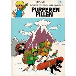 Jommeke - 004 Purpere pillen - herdruk - witte cover