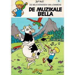 Jommeke - 005 De muzikale Bella - herdruk - witte cover