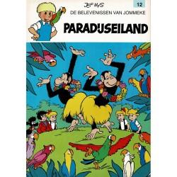 Jommeke - 012 Paradijseiland - herdruk - witte cover