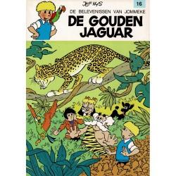 Jommeke - 016 De gouden jaguar - herdruk - witte cover
