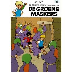 Jommeke - 049 De groene maskers - herdruk - witte cover