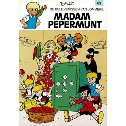Jommeke - 063 Madam Pepermunt - herdruk - witte cover