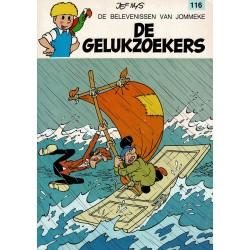Jommeke - 116 De gelukzoekers - herdruk - witte cover