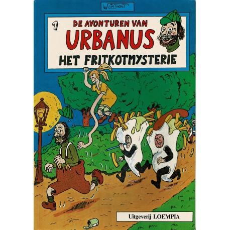 Urbanus - 001 Het fritkotmysterie - herdruk - Uitgeverij Loempia, in kleur