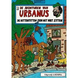 Urbanus - 002 De Hittentitten zien het niet zitten - herdruk - Uitgeverij Loempia, in kleur