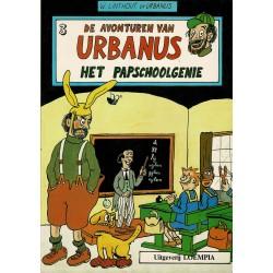 Urbanus - 003 Het papschoolgenie - herdruk - Uitgeverij Loempia, in kleur