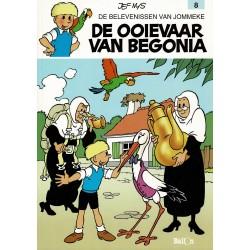 Jommeke - 008 De ooievaar van Begonia - herdruk - witte cover