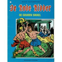 De Rode Ridder - 008 De gouden sikkel - herdruk - blauwe cover, ongekleurd