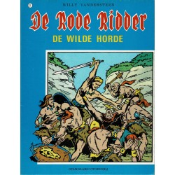De Rode Ridder - 021 De wilde horde - herdruk - blauwe cover, ongekleurd