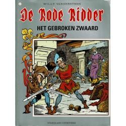 De Rode Ridder - 001 Het gebroken zwaard - herdruk - grijze cover, gelijmd