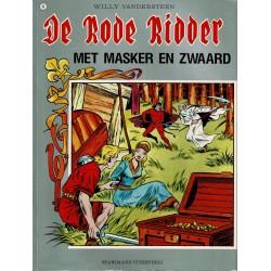 De Rode Ridder - 049 Met masker en zwaard - herdruk - grijze cover, gelijmd