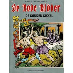 De Rode Ridder - 008 De gouden sikkel - herdruk - grijze cover, gelijmd