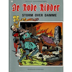 De Rode Ridder - 010 Storm over Damme - herdruk - grijze cover, gelijmd