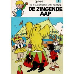 Jommeke - 002 De zingende aap - herdruk - oranje cover