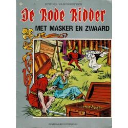 De Rode Ridder - 049 Met masker en zwaard - herdruk - grijze cover, geniet