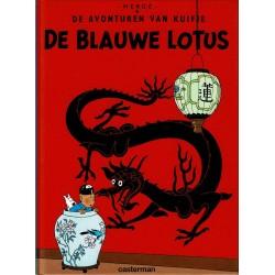 Kuifje - De Blauwe Lotus - herdruk - hardcover A5 (klein formaat) - reeks De Morgen 2004