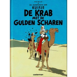 Kuifje - De krab met de gulden scharen - herdruk - hardcover A5 (klein formaat) - reeks De Morgen 2004