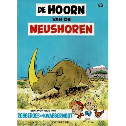 Robbedoes en Kwabbernoot - 006 De hoorn van de neushoorn - herdruk