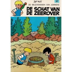 Jommeke - 037 De schat van de zeerover - herdruk - oranje cover