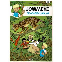 Jommeke - 016 De gouden jaguar - herdruk - nieuwe cover