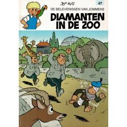 Jommeke - 047 Diamanten in de zoo - herdruk - witte cover
