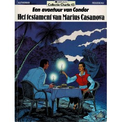 Collectie Charlie - 043 Het testament van Marius Casanova - eerste druk 1991