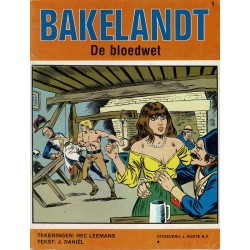 Bakelandt - 001 De bloedwet - herdruk - Uitgeverij Hoste, ongekleurd