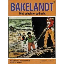 Bakelandt - 010 Met geheime opdracht - herdruk - Uitgeverij Hoste, ongekleurd