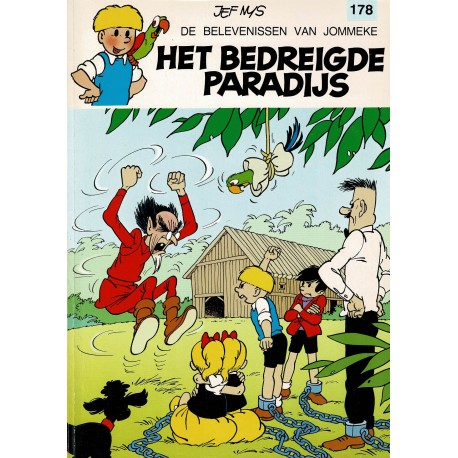Jommeke - 178 Het bedreigde paradijs - herdruk 1997